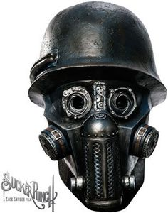 Sucker Punch - Overhead Gas Mask Zombie Latex Mask (Adult) Adult