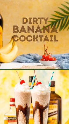 This Dirty Banana cocktail recipe is a dangerously delicious and boozy frozen drink recipe loaded with rum, banana, coffee, and chocolate flavors! Banana Rum Drinks, Chocolate Alcoholic Drinks, Smoothie Drinks, Alcoholic Desserts, Smoothies, Frozen Mixed Drinks, Blended Drinks, Frozen Cocktails, Frozen Alcoholic Drinks