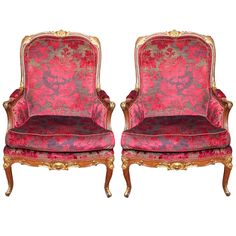 Pair of French Napoleon III Parcel Gilt Bergere 1