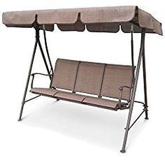 Porch Swing 3 Person Canopy