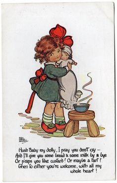 HGC Marsh Lambert card - little girl and dolly