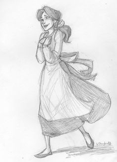 Belle, drawn by the ever talented Brigid Vaughn:)