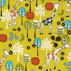 Fun giraffe wallpaper