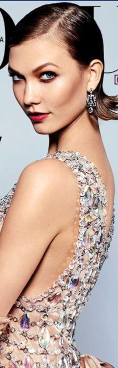 Prada~Crystal Dress~Karlie Kloss Bejeweled for Vogue Gq, Beautiful Dresses, Most Beautiful, Gorgeous Dress, Glitter Make Up, Crystal Dress, Color Plata, Glamour, Karlie Kloss