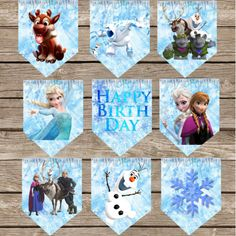 Printable Frozen Birthday banner! Perfect to spice up your birthday party!