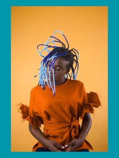 Over his lifetime, acclaimed Nigerian photographer J.D. Okhai Ojeikere photographed thousands of hairstyles worn by Nigerian and African women. Today, these photographs have been seen around the world and continue to inspire stylists, hairdressers and photographers. To pay homage to J.D. Okhai's work photographer Medina Dugger created the Chroma series.