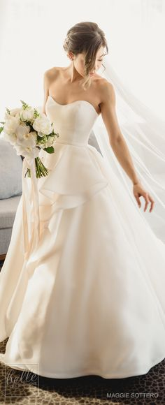 Simple Wedding Dress by Maggie Sottero #weddingdress #bridalgown #weddings #bridal