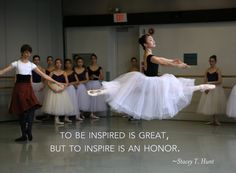 "Kirov Academy of Ballet. ""To be inspired is great, but to inspire is an honor."" ~ Stacey T. Hunt. Photo by Paolo Galli #inspiration #ballet #quote"
