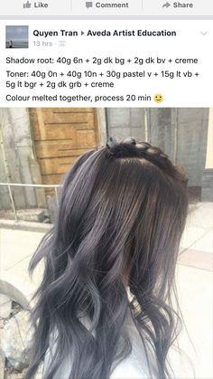 Copper Balayage, Balayage Hair, Aveda Hair Color, Hair Salon Names, Hair Color Formulas, Hair Color Techniques, Hair Heaven, Hair Painting, Hair Dos