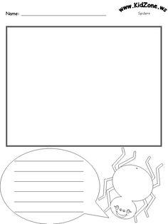 Spider Printable Worksheet