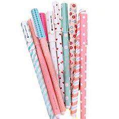 Cute Color Pens for Women Toshine Colorful Gel Ink Pen Set Unicorn Flamingo Pens Multicolor Gel Ink Roller Ball Pens for Kids Girls Children Students Teens Gifts 10 Pcs mm) Planner Writing, Backpack Essentials, School Pens, Student Office, College School Supplies, Cute Pens, Gel Ink Pens, Cute Stationery, Pencil Bags