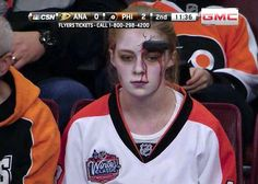 Meanwhile, at the Philadelphia Flyers game…