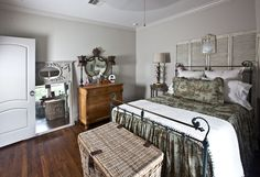 The Big Boy or what's new with the new house - Cedar Hill Farmhouse Bedroom Sitting Room, Sitting Rooms, Cedar Hill Farmhouse, Pine Chests, Grey Paint, Beautiful Bedrooms, Home Organization, Declutter, Cottage Bedrooms