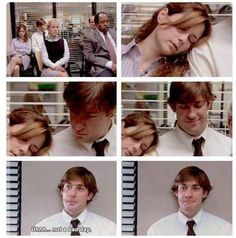 Funny Couple Goals The Office 64 Trendy Ideas Jim The Office, The Office Seasons, The Office Show, Office Fan, Office Quotes, Office Memes, Parks N Rec, Parks And Recreation, Jim Pam
