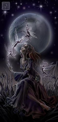 Elves Faeries Gnomes:  Moonlight and Faeries.