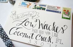 Love this style (custom calligraphy via Etsy) -- but where to get all those cool stamps??!