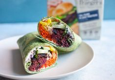 These Sweet Heat Beet Burger Wraps are a rainbow of veggies and flavor wrapped in a tortilla. Vegan Meal Prep, Meal Prep Bowls, Wrap Recipes, Vegan Recipes Easy, Vegetarian Recipes, Southwest Salad Recipe, Balsamic Vinaigrette Recipe