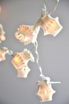 Garland light with little felt lanterns (various colours) 932ed05c9da