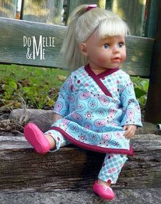 Puppen-Schnittmuster in Gr. 30, 33, 36, 43, 48: Lieblings-Tunika und Leggings für Puppen selbernähen. Freebie Download von Stoff & Liebe und Erbsenprinzessin