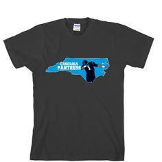 Map Cam Carolina Panthers Unisex T-shirt Sports Clothing