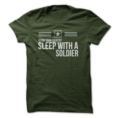 Sleep With A Soldier Tee T Shirts, Hoodies. Get it here ==► https://www.sunfrog.com/Jobs/Sleep-With-A-Soldier-Tee.html?41382