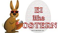 EI like OSTERN - Witzige Ostergrüße vom Online-Hasen
