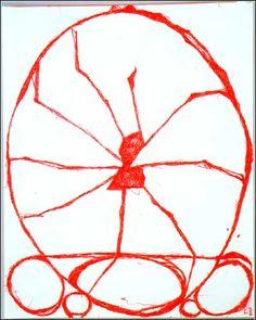 Louise Bourgeois, Spider, 2002. Encre rouge sur papier. 28,8 x 22,8 cm. (Exposition Galerie Karsten Greve)