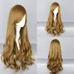 Long Deep Curly Charming Light Brown Sexy Lolita Cosplay Wig