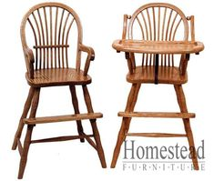 Bow Sheaf Youth/High Chair. http://www.homesteadfurnitureonline.com/youth-furniture_bow-sheaf-high-chair-670.html