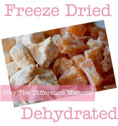 Freeze Dried or Dehydrated Foods? via @howdoesshe