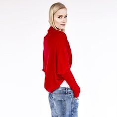 Red Misha Cardigan
