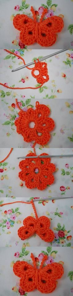 DIY Crochet Butterfly by laura