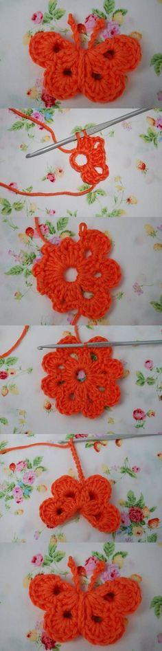 DIY Crochet Butterfly by laura