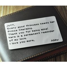Wholesale Personalized Wallet Insert Card  by WholesaleNameJewelry, $9.99