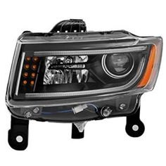 SPPC Black Projector Plank Style Headlights for Jeep Grand Cherokee WK2