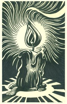 candle flame | Flickr - Photo Sharing! Woodcut Art, Linocut Prints, Art Prints, Block Prints, Art Sketches, Art Drawings, Scratchboard Art, Linoprint, Black Artwork