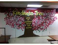 Every time a student does something nice, they add a leaf. Celebrate the tree at the end of the year.