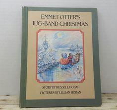 Emmet Otter's Jug Band Christmas, 1971, Russell Hoban, Lillian Hoban, vintage christmas book, holiday book by RandomGoodsBookRoom on Etsy