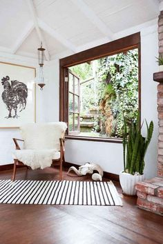 love how the neutral colors set off the greenery! #homedecor #dreamhome