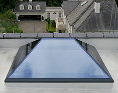 XACT Pure Glass Roof Lantern, a unique design frameless glass roof lantern. Innovative engineering, skilled manufacturing. Call us on 01428 748255