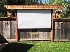 fun idea - pergola bird feeding movie theater!  AWESOME Outdoor Movie Screen Ideas for Summer Backyard fun!
