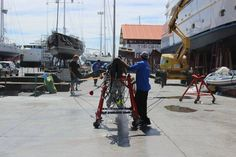 Last Friday our #riggers re-stepped Marten 72 #SYAragon after a major redesign and rework to improve her performance on the race circuit. #RiggingInPalma www.rsb-rigging.com