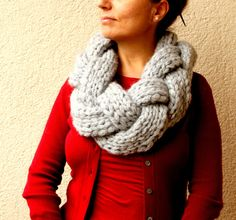 Oversized Knit Scarf / Infinity by warmandsoft on etsy
