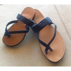 leather sandals girls sandals womens shoes by chicbelledejour (€30) via Polyvore