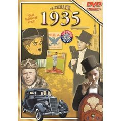 Flickback DVD Greeting Card 1935 Covers National & World News, Movies, Music And Sports - A Great overview of the Year!!!!  Designed as the perfect way to mark any birthday, anniversary or reunion. The colorful card is filled with stories and pictures about the people, places and events that made the year special. The DVD presents the year's most entertaining video highlights including 'People in the News,' 'Politics & World Events,' 'Fashion & Entertainment,' and 'Sports.'