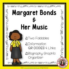 Introduce your young music students to female composer Margaret Bonds and her music. This is an excellent addition to your Listening lessons! This resource contains: - TWO different FOLDABLES in BOTH COLOR AND B/W. - This foldable is a perfect accompaniment to foldable 1, or can be used on its own to respond to Margaret Bonds' music during a listening lesson Get it here: #mtr #musicteacher #musiced #musiceducation #musicteacherresources