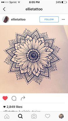 Love this daisy/sunflower mandala!