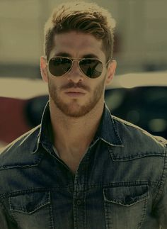 Any man who can rock some denim and aviators is divine in my book. Sergio Ramos - Real Madrid