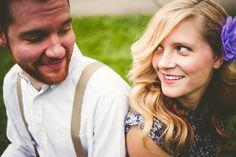 Sharing a sweet moment together during their vintage engagement session by @rogueartphoto