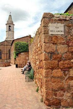 Pienza, Italy famous for Pecorino cheese.